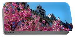 Springtime On Commonwealth Avenue Portable Battery Charger
