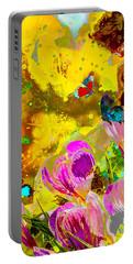Springtime Splash Portable Battery Charger by Mayhem Mediums