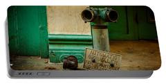 Sprinkler Green Portable Battery Charger by Melinda Ledsome