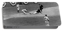Spud Chandler Is Out At Third In The Second Game Of The 1941 Wor Portable Battery Charger by Underwood Archives