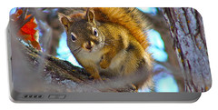 Portable Battery Charger featuring the photograph Squirrel Duty. by Johanna Bruwer