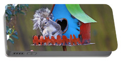 Squirrel Loves New Hang Out Portable Battery Charger by Luana K Perez