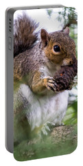 Squirrel With Pine Cone Portable Battery Charger