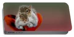Squirrels Valentine Portable Battery Charger