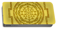 Sri Yantra In Gold Portable Battery Charger