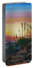 Beach At Sunrise Portable Battery Charger