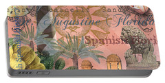 St. Augustine Florida Vintage Collage Portable Battery Charger