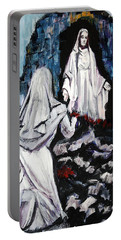 St. Bernadette At The Grotto Portable Battery Charger