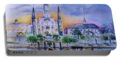 St. Charles New Orleans Sunset Portable Battery Charger by Bernadette Krupa