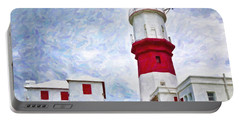 Portable Battery Charger featuring the photograph St. David's Lighthouse by Verena Matthew