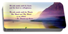 St Francis Of Assisi Quotation Portable Battery Charger
