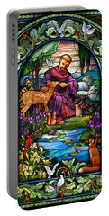 Portable Battery Charger featuring the digital art St. Francis Of Assisi by Randy Wollenmann