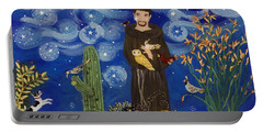 St. Francis Starry Night Portable Battery Charger