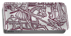 St. George - Woodcut Portable Battery Charger