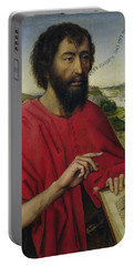 St John The Baptist, Left Hand Panel Of The Triptych Of The Braque Family Portable Battery Charger