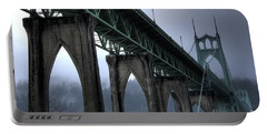 St Johns Bridge Oregon Portable Battery Charger by Bob Christopher