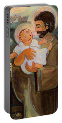 St. Joseph And Baby Jesus Portable Battery Charger