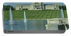 St Louis Art Museum And Grand Basin Portable Battery Charger by Greg Kluempers