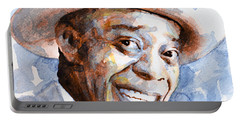 Portable Battery Charger featuring the painting St. Louis Blues 2 by Laur Iduc