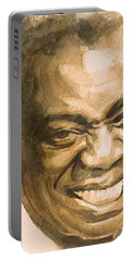 Portable Battery Charger featuring the painting St. Louis Blues by Laur Iduc