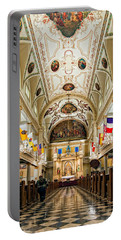 St. Louis Cathedral Portable Battery Charger by Steve Harrington