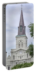 St. Louis Cathedral Through Trees Portable Battery Charger