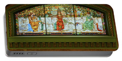 St Louis Union Station Allegorical Window Portable Battery Charger by Greg Kluempers