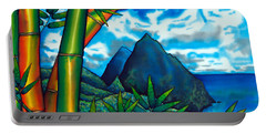 St. Lucia Pitons Portable Battery Charger