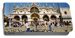 Portable Battery Charger featuring the photograph St. Mark's Basilica  by Allen Beatty