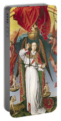St. Michael Weighing The Souls, From The Last Judgement, C.1445-50 Oil On Panel Detail Of 170072 Portable Battery Charger by Rogier van der Weyden