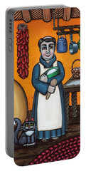 St. Pascual Making Bread Portable Battery Charger