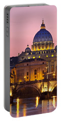 St Peters Basilica Portable Battery Charger by Brian Jannsen