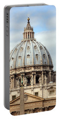 St. Peters Basilica Portable Battery Charger by Debi Demetrion