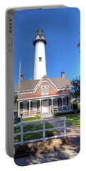 Portable Battery Charger featuring the photograph St. Simons Island Light Station by Gordon Elwell