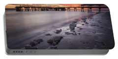 St. Simons Pier At Sunset Portable Battery Charger by Fran Gallogly