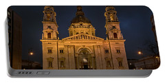 St Stephen's Basilica Budapest Night Portable Battery Charger