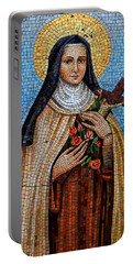 St. Theresa Mosaic Portable Battery Charger