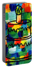 Stl250 Birthday Cake Abstract Portable Battery Charger