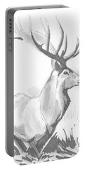 Stag Drawing Portable Battery Charger
