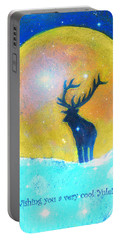 Stag Of Winter Portable Battery Charger