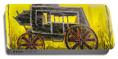 Portable Battery Charger featuring the mixed media Stagecoach by Jason Girard