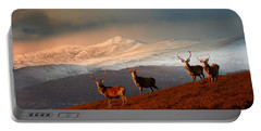 Stags At Strathglass Portable Battery Charger