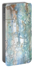 Stained Cracks Portable Battery Charger by Rebecca Davis