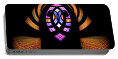 Stained Glass Abstract Portable Battery Charger