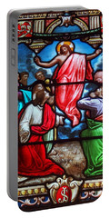 Portable Battery Charger featuring the photograph Stained Glass by Ed Weidman