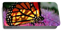 Stained Glass Monarch  Portable Battery Charger
