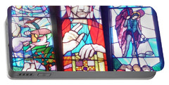 Stained Glass Window Portable Battery Charger by John Williams