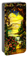 Stained Landscape 2 Portable Battery Charger
