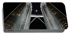 Stainless Steel Moon Portable Battery Charger