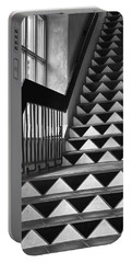 Portable Battery Charger featuring the photograph Staircase Santa Fe New Mexico by Ron White